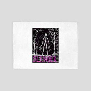 creepy thin slender skinny man 5'x7'Area Rug