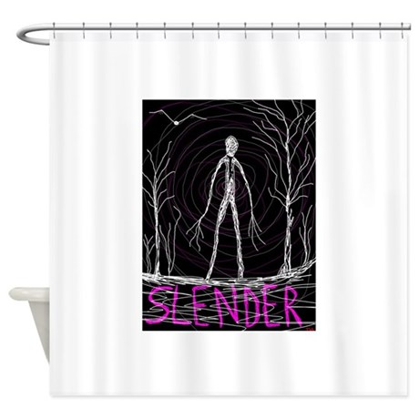 Creepy Thin Slender Skinny Man Shower Curtain By ADMIN CP4096561