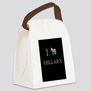 I love Hillary Clinton 2016 Canvas Lunch Bag