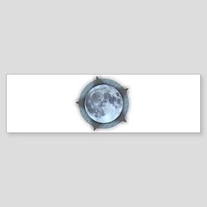 Moon Star Bumper Sticker