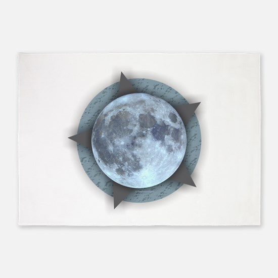 Moon Star 5'x7'Area Rug