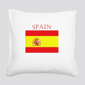 Spanish Flag spain yellow Square Canvas Pillow