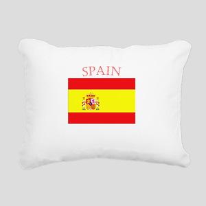 Spanish Flag spain yello Rectangular Canvas Pillow