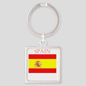 Spanish Flag spain yellow Keychains