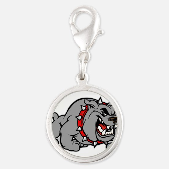 grey bulldog Charms
