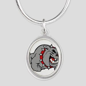 grey bulldog Necklaces