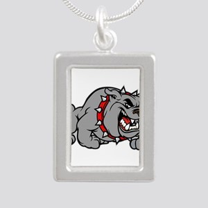 grey bulldog Necklaces
