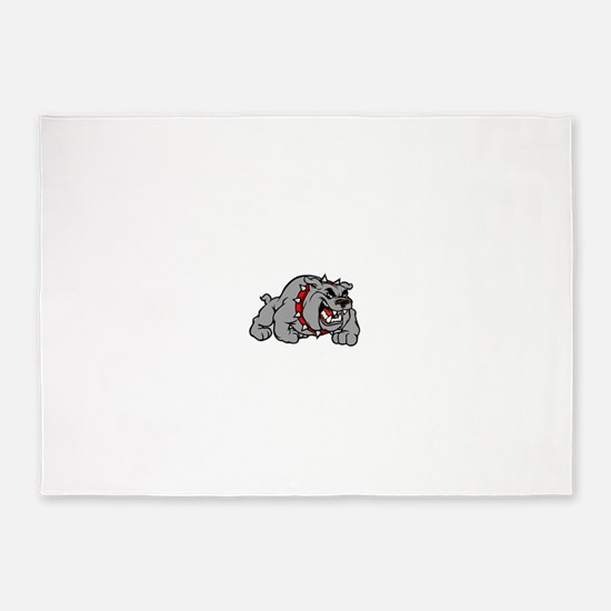 grey bulldog 5'x7'Area Rug