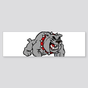 grey bulldog Bumper Sticker