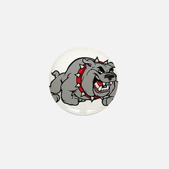 grey bulldog Mini Button