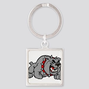 grey bulldog Keychains