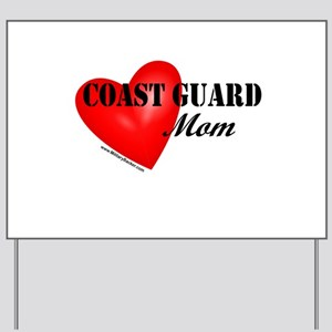 Red Heart_Coast Guard_Mom Yard Sign