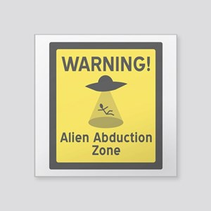 Alien Abduction Zone Sticker