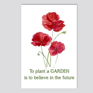 Red Poppy Plant A Garden Postcards (package Of 8)