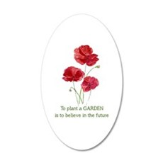 Red Poppy Plant A Garden Wall Decal