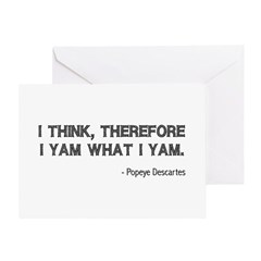 I Think Therefore I Yam Greeting Card