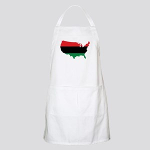 African American _ Red, Black & Green Colors Apron