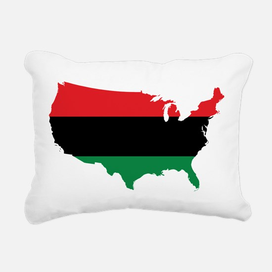African American _ Red, Black & Green Colors Recta