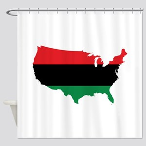 African American _ Red, Black & Green Colors Showe