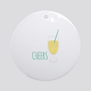 Cheers Drink Round Ornament