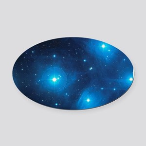 PLEIADES Oval Car Magnet