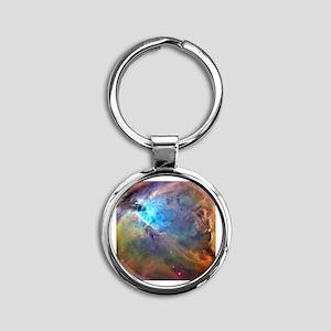 ORION NEBULA Round Keychain