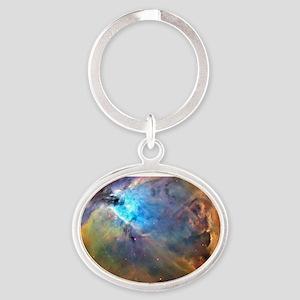 ORION NEBULA Oval Keychain