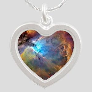 ORION NEBULA Silver Heart Necklace