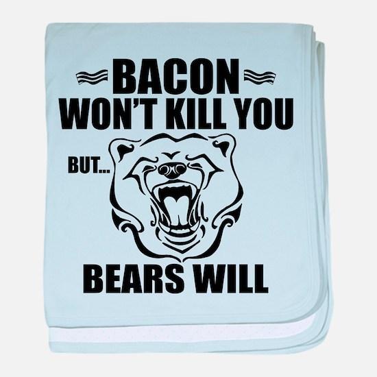 Bacon Bears baby blanket
