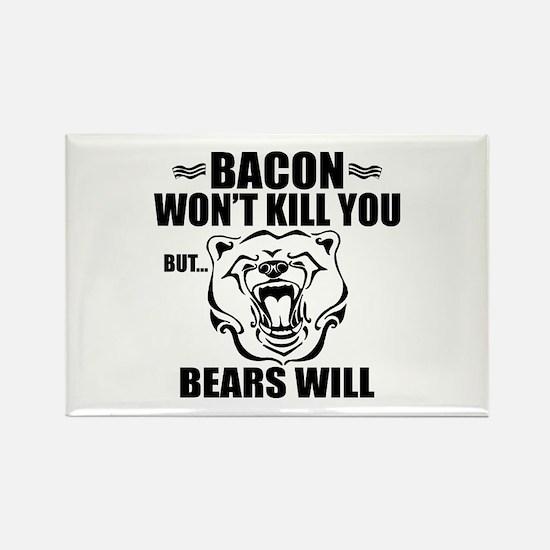 Bacon Bears Rectangle Magnet