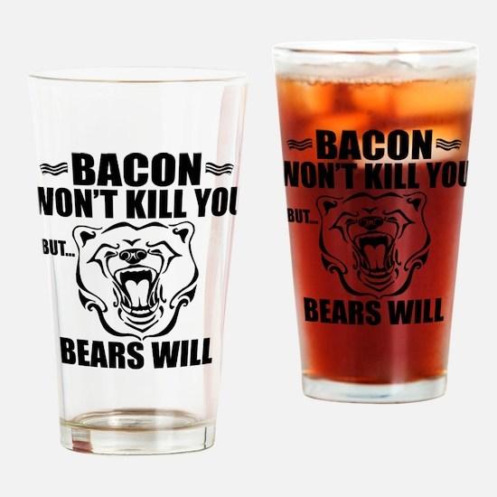 Bacon Bears Drinking Glass