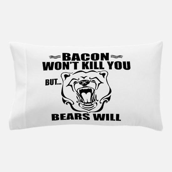 Bacon Bears Pillow Case