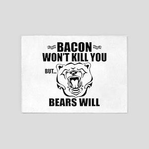 Bacon Bears 5'x7'Area Rug