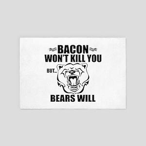 Bacon Bears 4' x 6' Rug