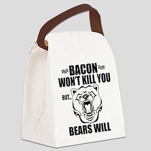 Bacon Bears Canvas Lunch Bag
