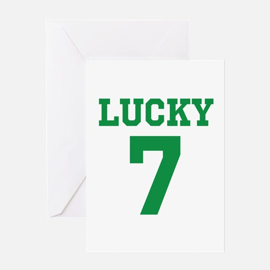 LUCKY 7 Greeting Card