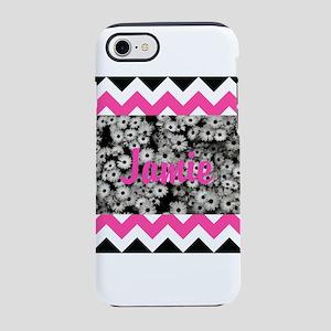 Chevron Flowers Personalize iPhone 8/7 Tough Case