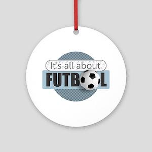All About Futbol Round Ornament