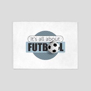 All About Futbol 5'x7'Area Rug
