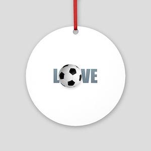 Love Soccer Round Ornament
