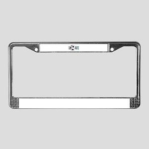 Love Soccer License Plate Frame