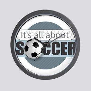 All About Soccer Wall Clock