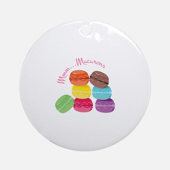 Mmm...Macarons Round Ornament