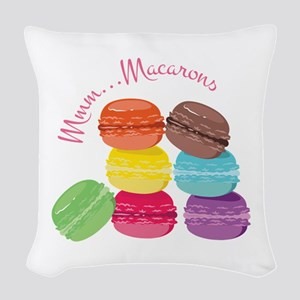 Mmm...Macarons Woven Throw Pillow