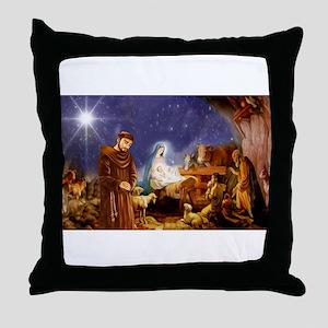 St. Francis Christmas #1 Throw Pillow