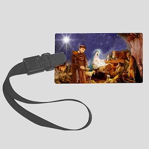 St. Francis Christmas #1 Large Luggage Tag