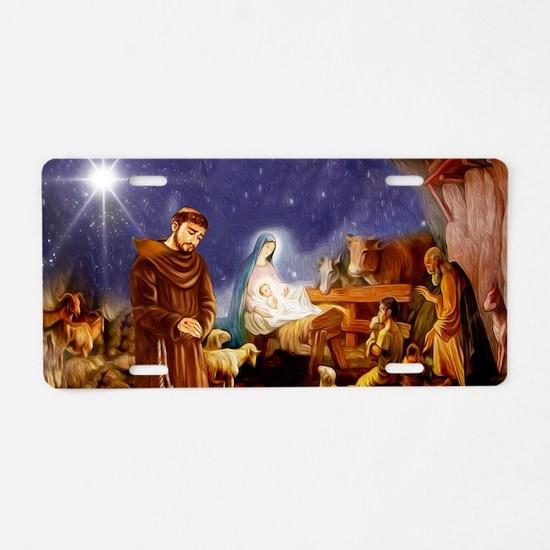 St. Francis Christmas #1 Aluminum License Plate