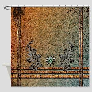 Star made of diamond Shower Curtain