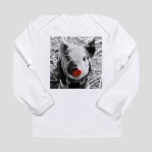 Lovely Piglet, Black,white,spl Long Sleeve T-Shirt