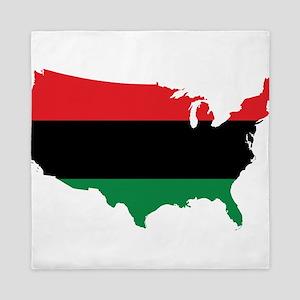 African American _ Red, Black & Green Colors Queen